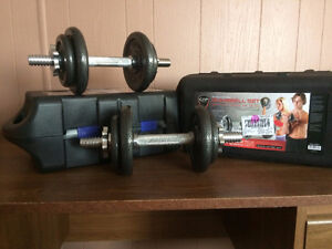 2 sets of dumbbell weights