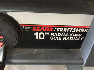"""Sears 10"""" Radial Saw on Stand West Island Greater Montréal image 2"""