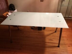 Modern Frosted Glass Desk