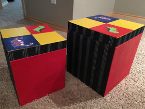 Leather toy boxes