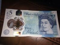 ****collectable AK15 five pound polymer note***