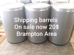 55 gallon fiber shipping barrel-brampton