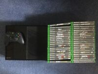 Xbox One and assortment of 42 games