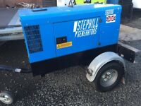 Stephill SSD10000S towable diesel generator 10 kva ( no vat )