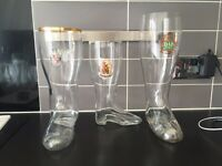 Set of Boot Drinking Glasses
