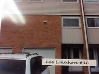 Spacious 3-Bedroom Lakeshore Dr. Townhouse Available April 1
