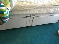 120cm / 4ft Box Frame Bed with storage (including free mattress if needed)