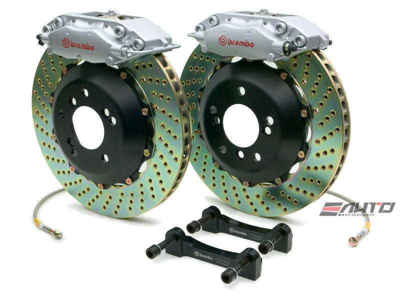 Brembo Rear GT Brake 4Pot Silver 345x28 Drill Disc E63 E550 E55 E500 E350 E320