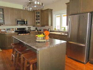 Newer Maple Kitchen Cabinets, Countertop and Sink