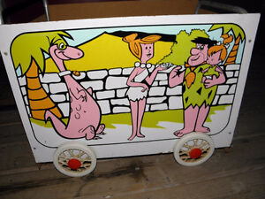 Vintage Coleco Flintstones Toy Box Cart 1974 Retro Complete Orig