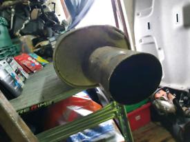 Big bore car backbox exhaust