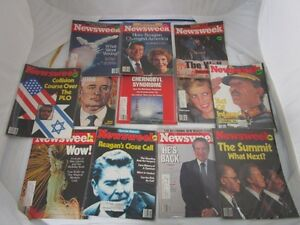 OLD LIFE MAGAZINES NEWSWEEK COLD WAR 1980'S REAGAN LADY DIANA