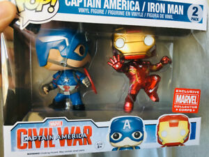 Iron man/Captain America Pop Vinyl's