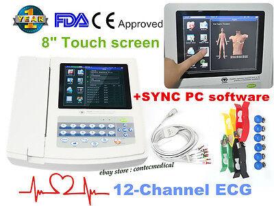 Portable Ecg Machine Digital 12 Channel 12-lead Electrocardiographtouchusb-sw