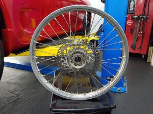 "Honda MX CRF450 CRF250 R & X Front wheel 21"" Roue & Brake rotor"