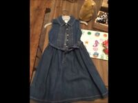 Girls Debenhams denim dress age 3-4