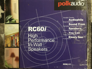 SPEAKERS POLK AUDIO / RC60i 2-Way In-Ceiling 6.5'' 2 White / NEW
