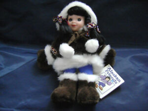 Hand Crafted Native Doll - Alaskan native style