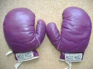 Vintage Pair of Antique WinnWell Leather Boxing Gloves, 2 pair