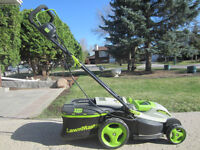 Electric 2-in-1 Lawn Mower & extension cord