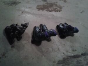 3 pairs of roller blades sizes 1, 6 & 8