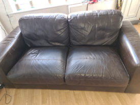 2 seater sofa from next leather