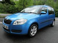 08/58 SKODA ROOMSTER 2 1.4 TDI 80BHP MPV IN MET BLUE WITH 88,000 MILES