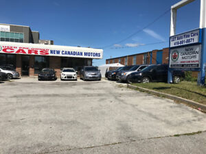 Used car dealership and one garage bay for lease