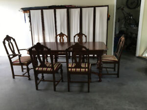 Antique Walnut Table and Chairs - Mint Condition