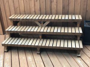 "64"" 3-tier cedar steps"
