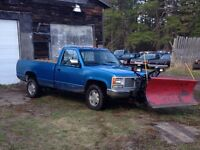 91 GMC 4 x 4 with plow