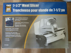 **** PowerFist 7-1/2 in. Electric Meat Slicer ****