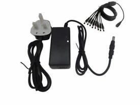 CCTV DVR POWER SUPPLY FOR 4 CAMERAS 5000MA(5AMP) 12V DC POWER SUPPLY WITH 4 WAY SPLITER LEAD