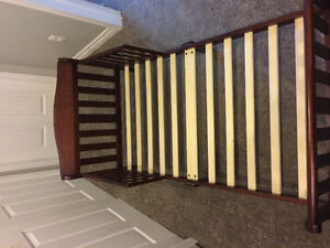 Wooden espresso computed toddler beds