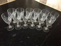 12 sherry glasses