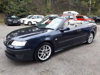 Saab 9-3 2.0T 6sp 2005 Aero BLUE FULL LEATHER LOW MILAGE FOR YEAR NEW MOT