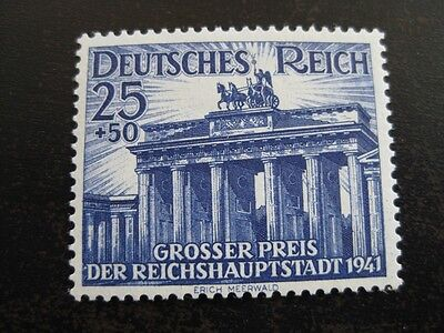 THIRD REICH 1941 MINT BERLIN HORSE RACE STAMP 99 CENT SPECIAL