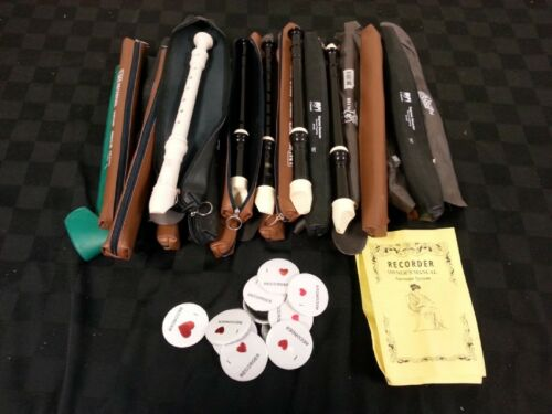 big lot 26 Recorders Cases Manuals 11 Buttons german recorder collection soprano