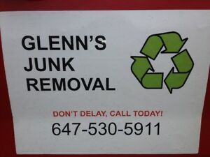 GLENN'S JUNK REMOVAL – ONLY CALL OR TEXT GLENN @ 647-530-5911