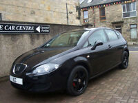09 09 REG SEAT LEON 1.6 REFERENCE 5DR BLACK AIRCON SPORTS SEATS LOW MILEAGE FSH