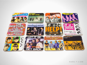 BEATLES - THE BEATLES Set of 12 Magnets