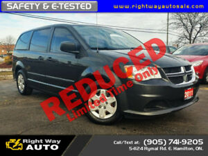 2011 Dodge Grand Caravan SE | DVD | SAFETY & E-TESTED