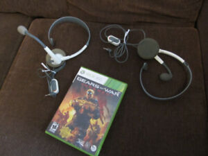 Xbox 360 game and headsets