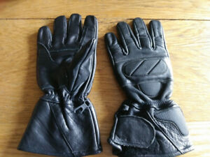 Large Leather Motorcycle Gloves