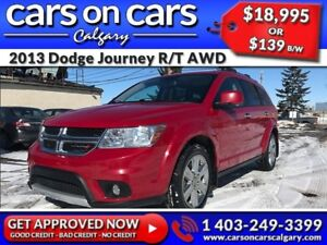 2013 Dodge Journey R/T AWD 7 Pass w/Leather, Sunroof, Navi, DVD