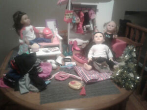 American Girl Style doll set