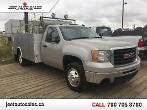 2008 GMC Sierra 3500HD 4X4 11FT SERVICE BODY COMPRESSOR 6.0L GAS