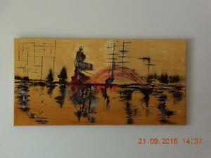Toile peinture abstraite à l'acrylique