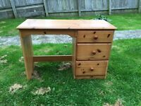 Pine dressing table --- with free local plymouth delivery @ full price £55 ideal to shabby chic