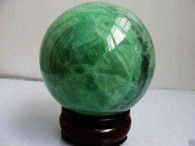 Dark Ice Quartz Crystal (60mm Glow In The Dark Stone crystal Fluorite sphere ball Ice)
